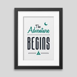 The adventure begins Framed poster demo_52